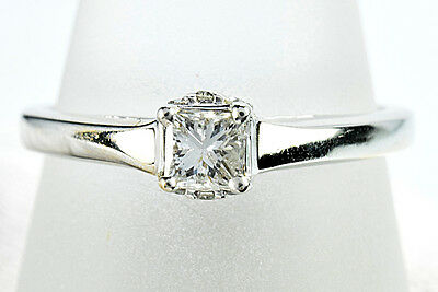 Women's .42 ct F-G/SI2 GIA Spec Diamond Engagement Ring in 14k Solid White Gold
