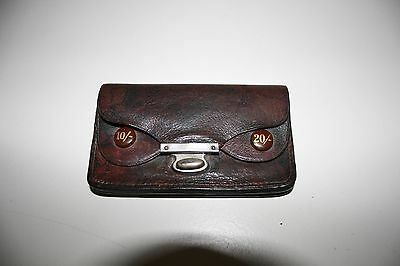 Vintage rare, beautiful 1930-40's brown leather purse/wallet