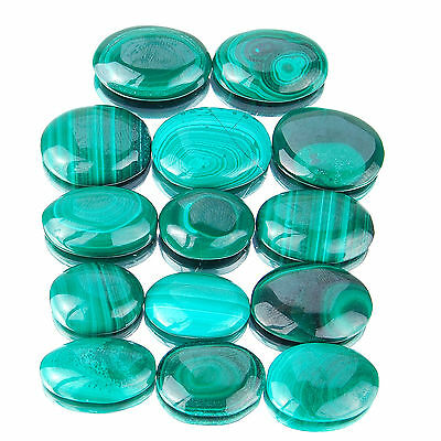185 Cts/14 Pcs Untreated Natural Malachite AAA Finest Green Gemstones Wholesale