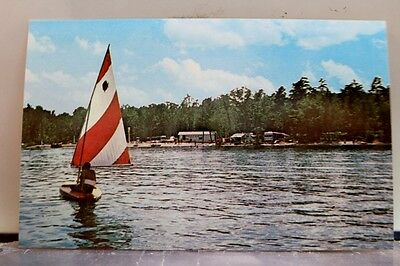 New Hampshire NH West Ossipee Westward Shores Camping Area Postcard Old Vintage