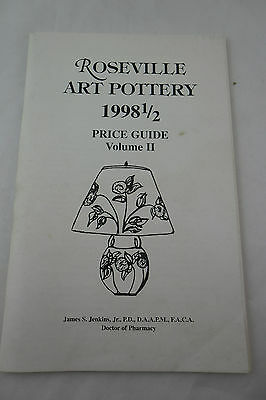 Roseville Art Pottery 1998-1/2 Price Guide Vol 2 James S. Jenkins; FREE SHIPPING