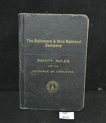 ThriftCHI ~ 1920 Baltimore & Ohio Railroad Co Employee Safety Rule Book