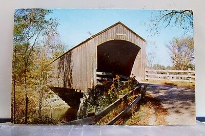 New Hampshire NH Amherst Covered Bridge Postcard Old Vintage Card View Standard