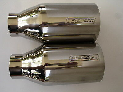 Lexus F Sport Engraved Exhaust Tips IS GS LS CT RX ES GX LX
