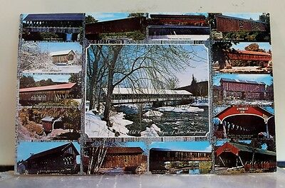New Hampshire NH Covered Bridge Postcard Old Vintage Card View Standard Souvenir