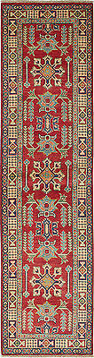 """Hand-knotted Carpet 2'7"""" x 10'2"""" Traditional  Wool Runner Rug"""