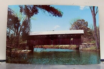 New Hampshire NH Waterloo Covered Bridge Postcard Old Vintage Card View Standard