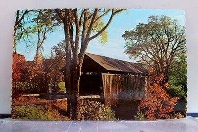 New Hampshire NH Bradford Bement Covered Bridge Postcard Old Vintage Card View