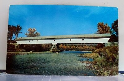 New Hampshire NH Conway Smith Covered Bridge Postcard Old Vintage Card View Post