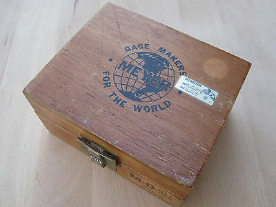 Vintage Wooden Gage Box
