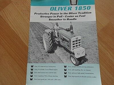 VINTAGE OLIVER 1850 TRACTOR BROCHURE VERY GOOD 4 pgs **