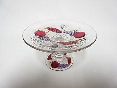 Well Colored Della Robia Comport / Westmoreland Glass Co