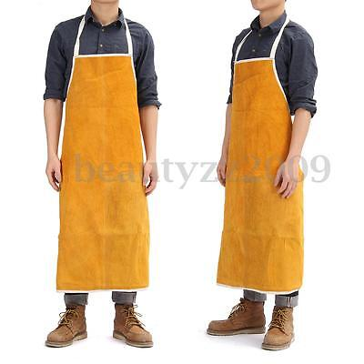 Welding Welder Heat Insulation Protect Clothing Cowhide Leather Apron 70x100cm