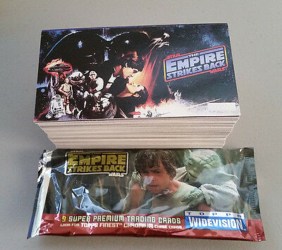 Star Wars Empire Strikes Back Widevision Trading Cards complete set 1-144 Topps