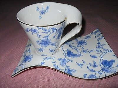 Outstanding Teacup and Holding Plate Saucer Adeline Collection England with Box