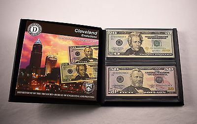 2004 Evolutions $20 $50 Bill Matching Set Low Serial Cleveland