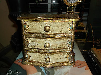 Vintage Italian Florentine Jewelry Box/made In Italy