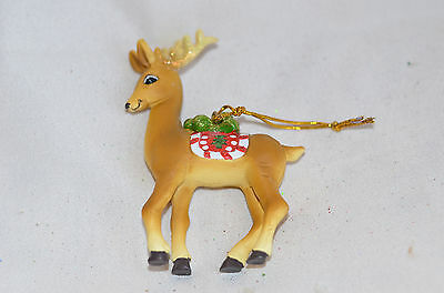 Standing Reindeer with Scarf Christmas Tree Ornament new
