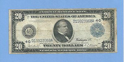 1914  $ 20 Cleveland Ohio Federal Reserve Note Fr 978 Fine
