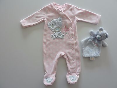 TATTY TEDDY Little Girls Fleecy Sleepsuit and Comforter NWT