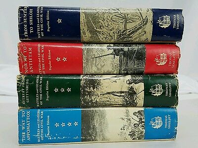 Battles and Leaders of the Civil War 4 Vol Set by Roy F Nichols 1956 Hardcover