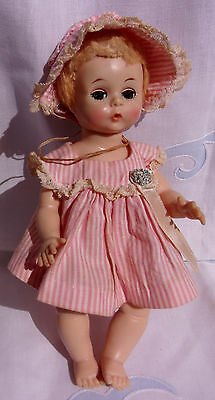 "1950's Madame Alexander Little Genius 7"" baby doll Original TAGGED Outfit"