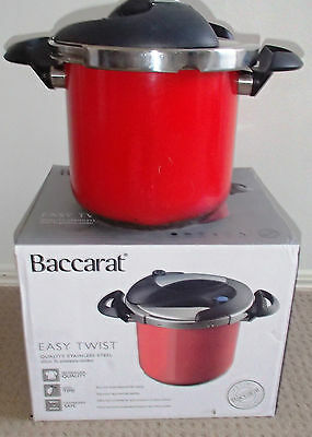 Baccarat Easy Twist Pressure Cooker 22cm 7L - Stainless Steel in Red