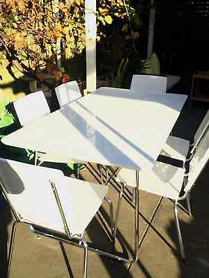 white 2 pack dining table and chairs