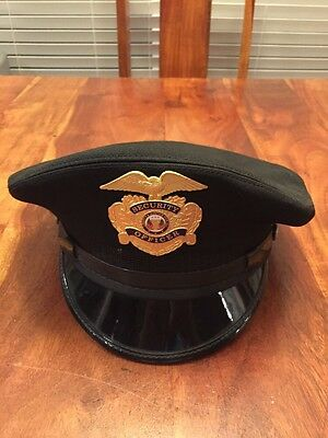 Vintage Midway Cap Co. Security Officer Hat Size 7 3/8 (Kc)