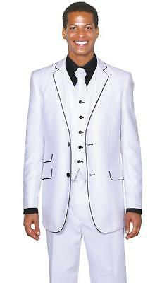 New 3 Pieces White Mens Wedding Suits Groom Tuxedos Groomsman Dinner Party Suits