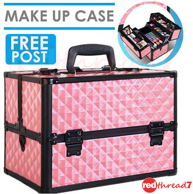 Portable Beauty MakeUp Travel Case Make Up Cosmetic Nail Carry Box Organiser New