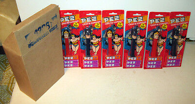 Case of PEZ Blue Pointed Ear Batman and Wonder Woman Mint on Card