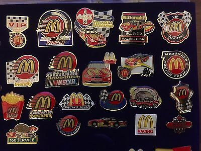 McDonalds Pin Badge Collection - Nascar Racing Team - Rare Collection - 21 Pins