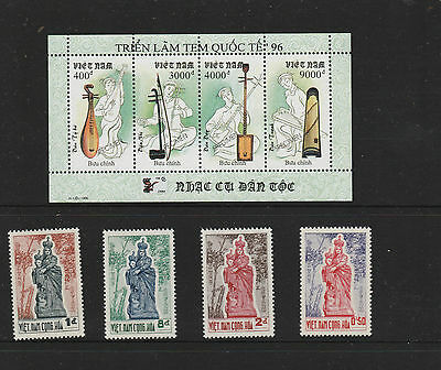 Vietnam / Min.sheet (Mint) Music Instruments + Set Of Religious /mint-Hinged