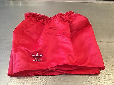 Amazing Shiny Vintage Red West German Adidas Sprinter Shorts Medium D6