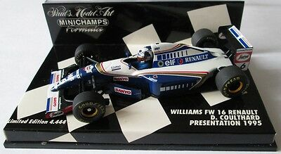 F1 1/43 Williams Fw16 Renault Coulthard Presentation 1995 Minichamps