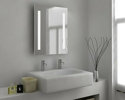 Illuminated Bathroom Mirror with Sensor, Shaver and Demister - Aglaia - c26d