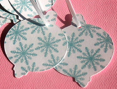 Snowy Sky - Holiday Gift Tags