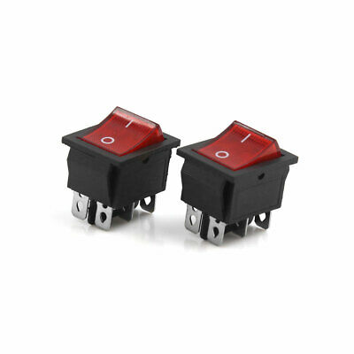 New Switch ON//OFF LED Car Boat Truck Bar Rocker Toggle 12V 20A 5P Red, Tur S5O3