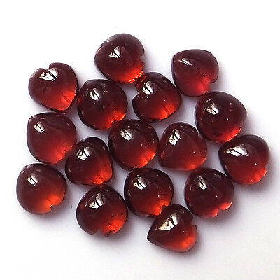 5X5 MM Heart Natural Calibrated African Red Garnet Cabochon 16 Pieces Stone Lot