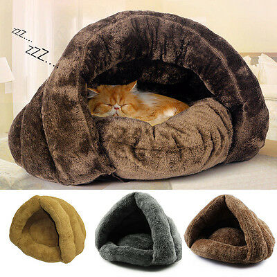 Soft Kitten Cat/Dog House Puppy Cave Pet Sleeping Bed Mat Pad Igloo Nest Gift