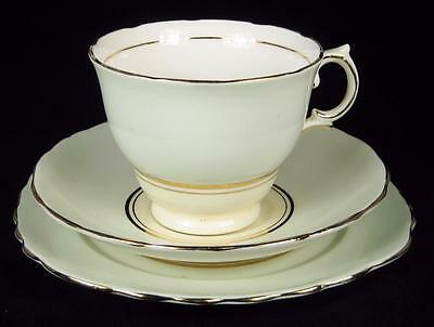 Colclough Pale Green & Yellow Bone China Cup/Saucer/Plate Trio