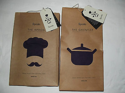 BNIB Spode gauntlet and apron in aubergine colour perfect as a gift!