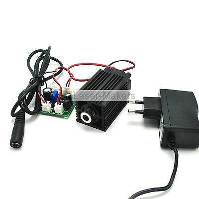 808nm 200mw IR Infrared Focusable Dot Laser Diode Module +12V Adapter Driver TTL
