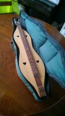 Dulcimer 5 string with case and books new strings zither Appalachian mountain