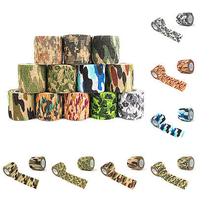 Pet Dog Vet Camouflage Non Woven Wound Cohesive Bandage Self Adherent Wrap Tape