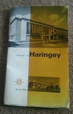 Old Map Of Haringey, North London