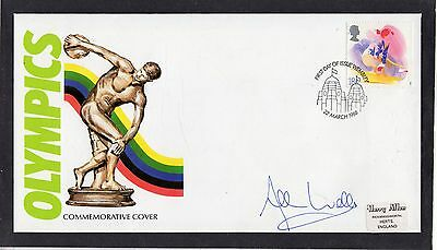 GB 1988 Olympics Cover Signed by Allan Wells