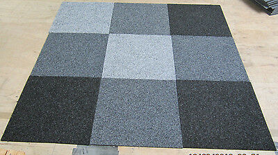 """""""Shades of Grey""""Box of 20 Carpet Tiles only £30 Delivered"""