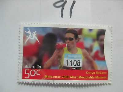 N o -91--2006 COMMONWEALTH  GAMES  -USED  50c  VALUES  ---A1  ORDER